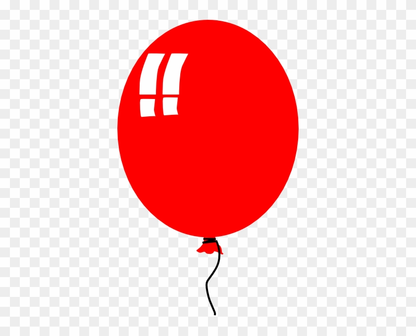 Free Vector Red Baloon Helium Party Clip Art - Balloon Clip Art #8782