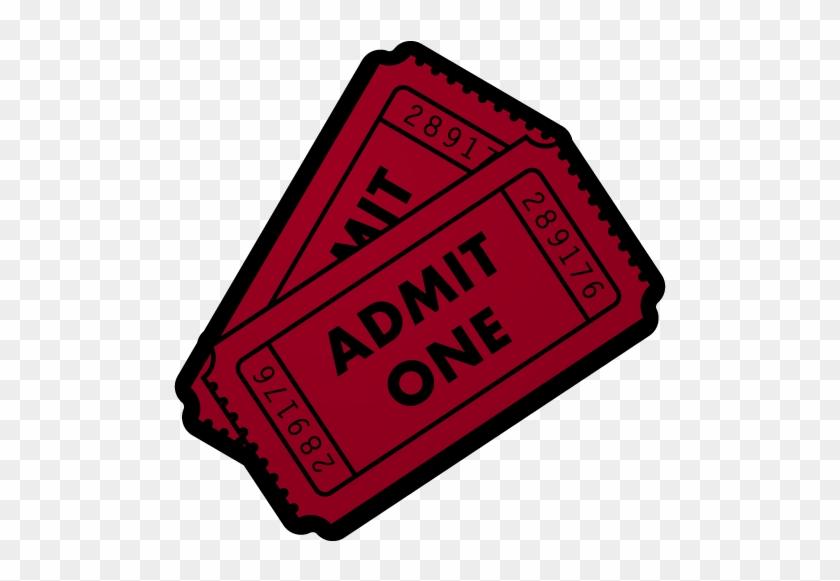 Ticket Clip Art Clipart - Admit One Vector #8855