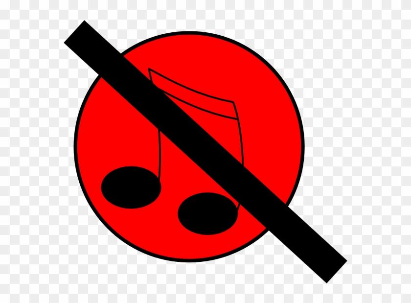 No Music Clip Art - No Music Icon Png #8883