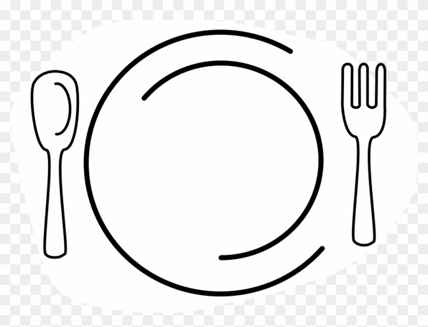 Fork And Knife Plate Clipart #8916