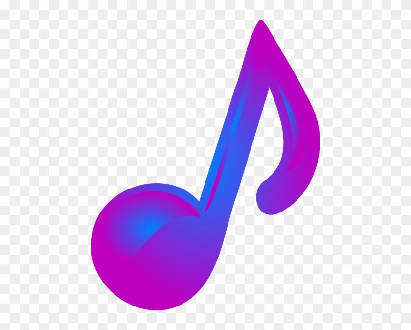 Purple Music Note Clip Art #8937