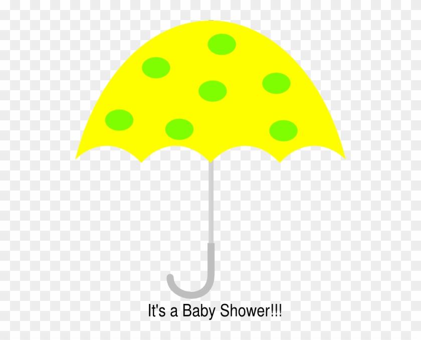 Yellow Polka Dot Umbrella Clip Art At Clkercom Vector - Clip Art #8947
