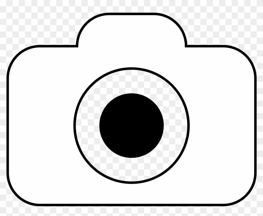 Camera - Clipart - Black - And - White - Camera Icon Png White #8956