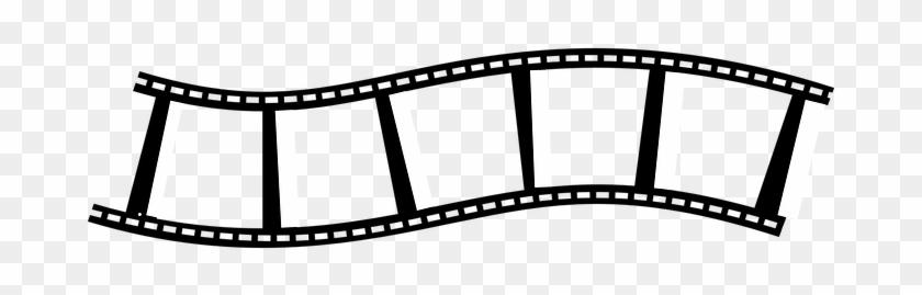 Film Strip Reel Blank Black Photography Mo - Film Strip Clip Art #8962