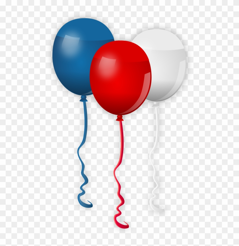 4th July Balloons - Red White Blue Balloons Transparent Background #8976