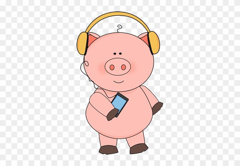 Pig Listening To Music - Pig Listening To Music #8980