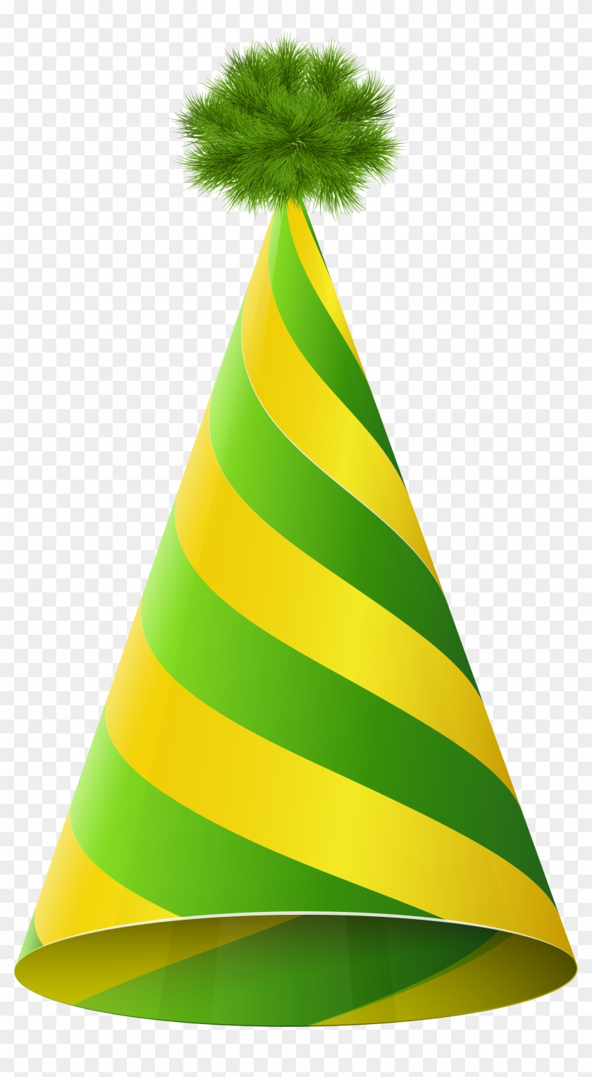 Yellow And Green Party Hat #9029