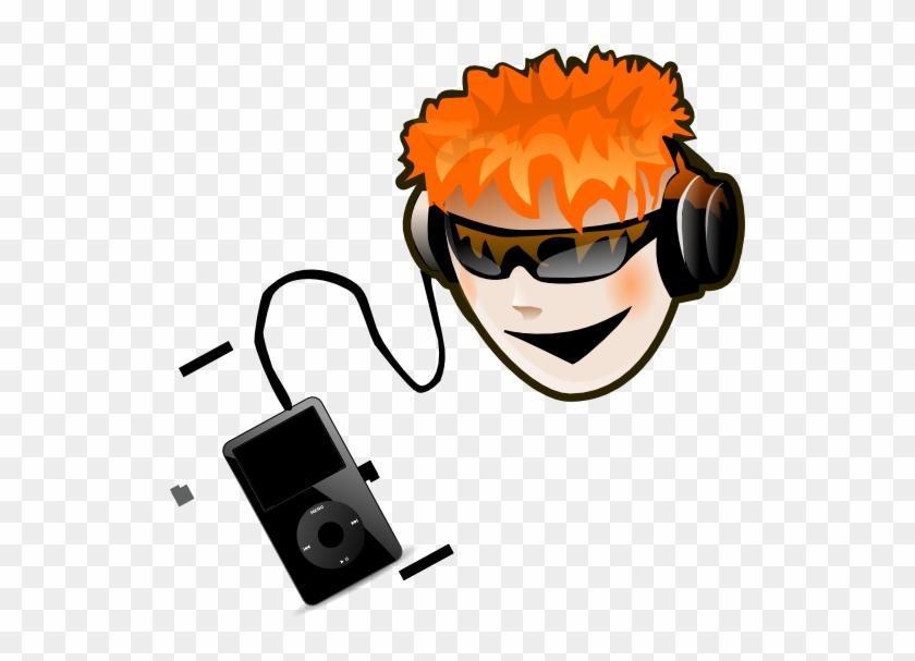 Listen To Music Clip Art At Clker - Listen To Music Png #8998
