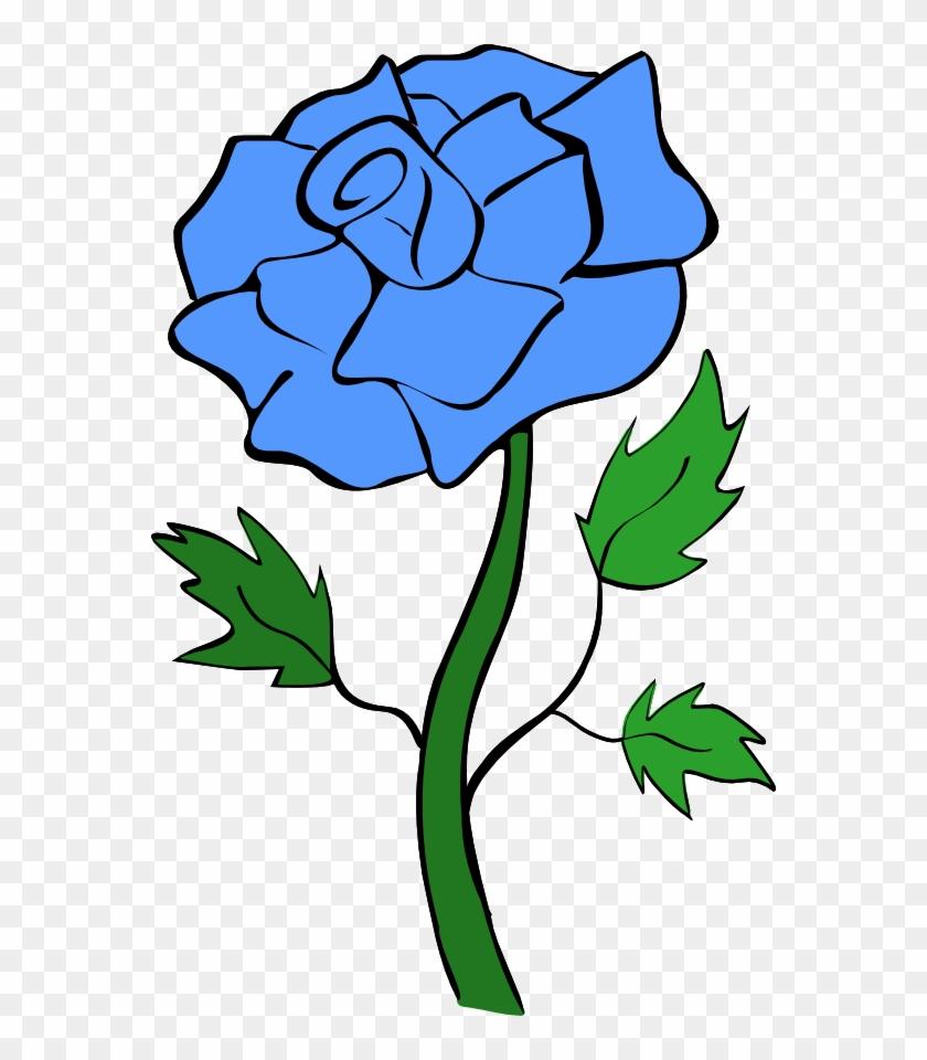 Blue Rose Flower Clipart Clip Art Library - Blue Rose Clip Art #9006