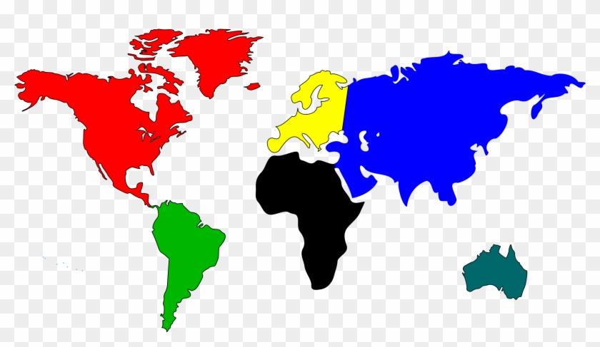 World Map Clip Art - Did T Rex Live #9012