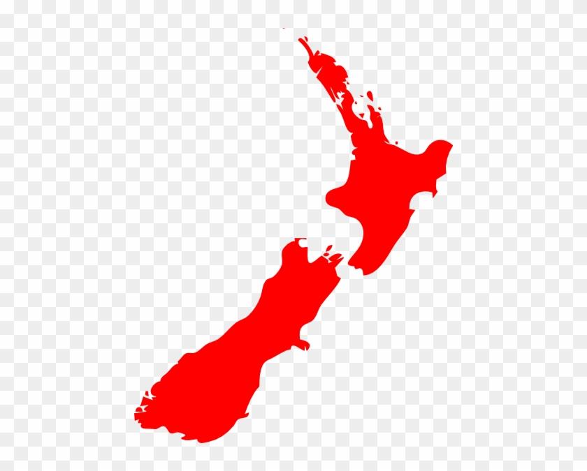 Nz Map Clip Art - New Zealand Map Clip Art #9022