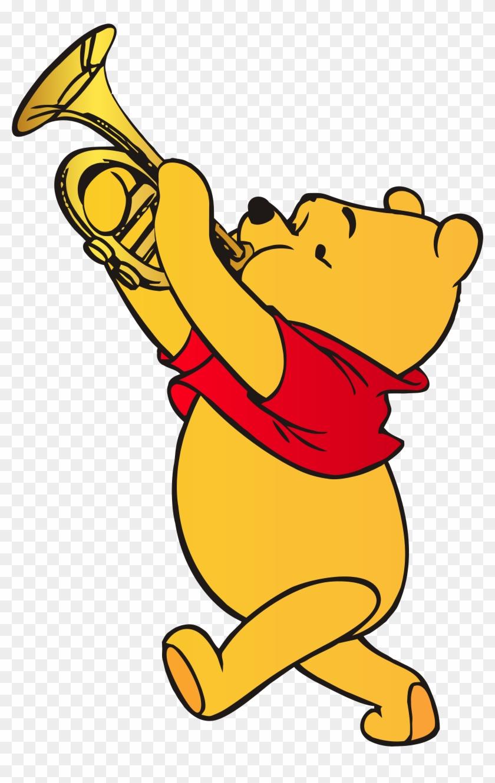 Graduation Clipart Pooh - Winnie Pooh Trumpet #9058