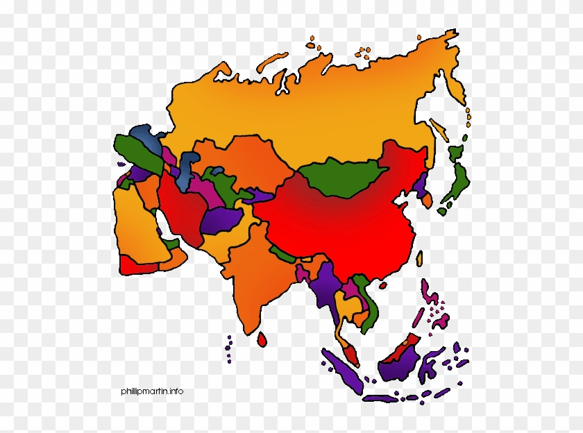 Asia Map - Vegetation Belts Of Asia #9034