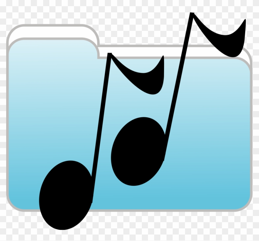 Image For Music Folder Music Clip Art - Music Folder Icon #9035