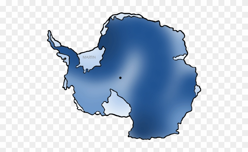 Antarctica Map - Antarctica Clip In Art #9040