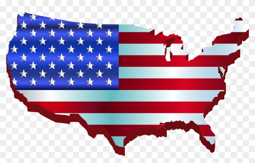 Us Map Clipart Transpatent 3d America Map Flag - Cbd Legal In All 50 States #9043