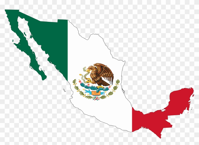 Clipart Info - Mexican Flag On Mexico #9057
