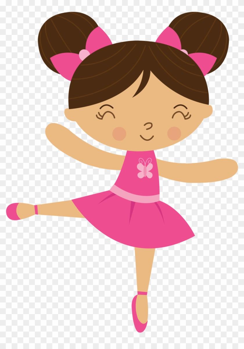 Bailarina - Ballerina4 - Minus - Music Clipartclip - Personalised Ballerina Birthday Party Cotton Tote Bag #9056