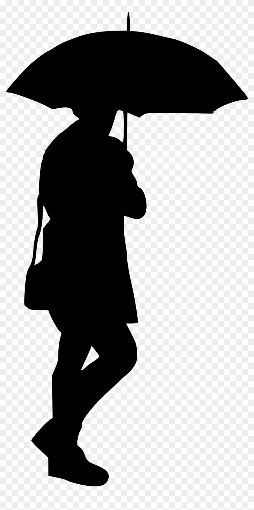 10 Woman With Umbrella Silhouette - Umbrella Silhouette Png #9077