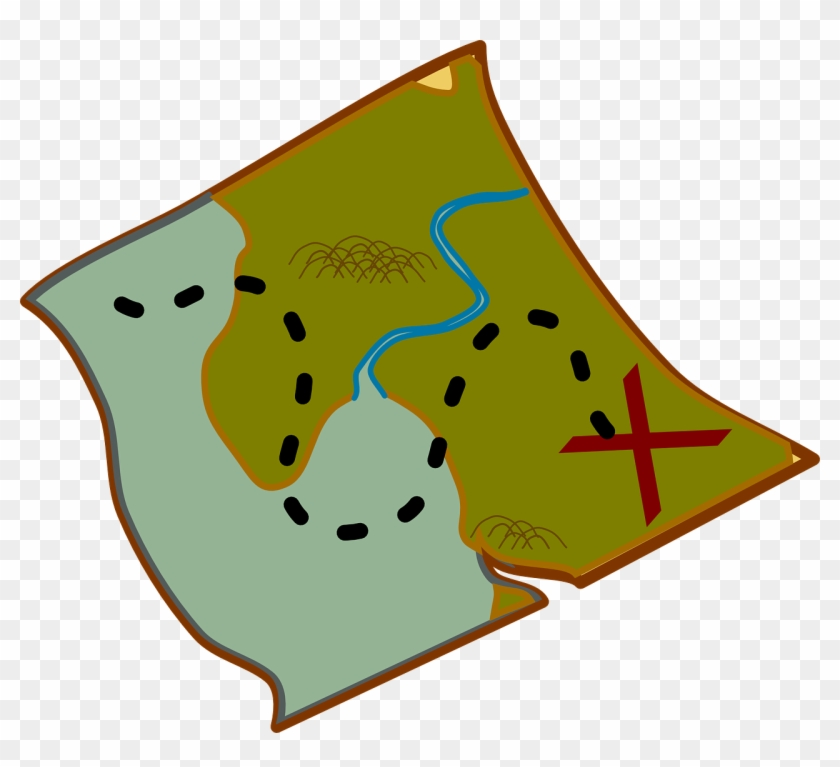 Map-309928 - Treasure Map Clip Art #9100