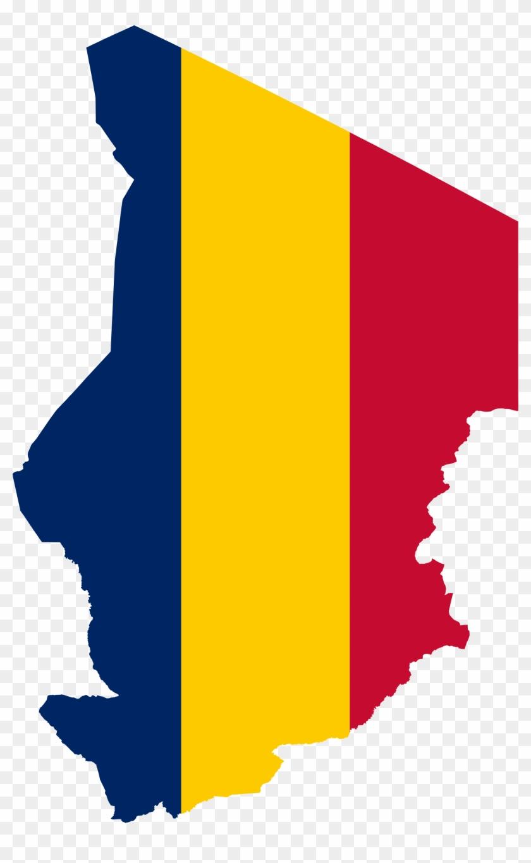 Flag Map Of Chad Drapeau Bandiera Bandeira Flagga Flagartist - Chad Flag Map #9111
