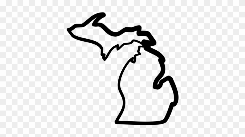 Pictures Of The State Of Michigan Map Clipart Best - Outline State Of Michigan Vector #9115