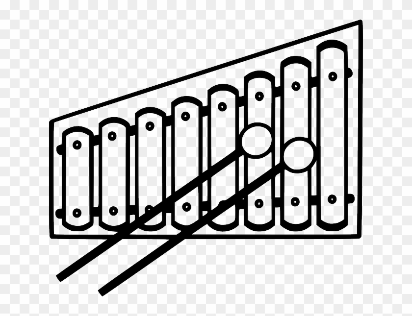 Black And White Xylophone Clipart - Starting With Letter X #9122