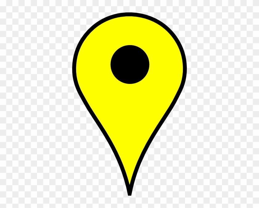 Map Pin Yellow Clip Art At Clker - Google Map Pin Yellow #9125