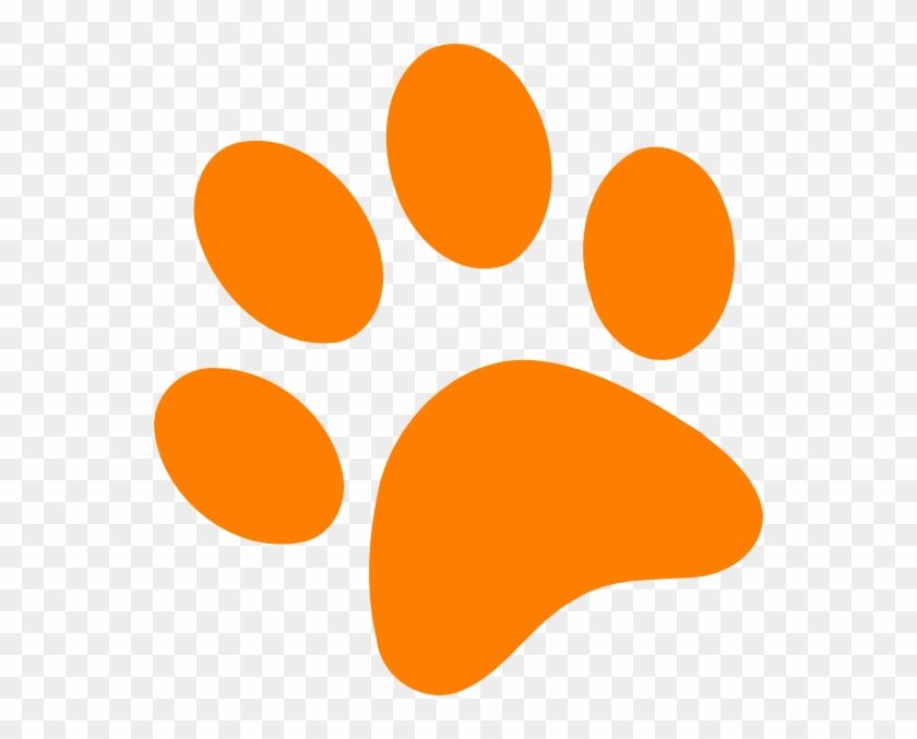 Orange Paw Print Clip Art Orange Paw Print Clip Art - Orange Paw Print Clip Art #9144