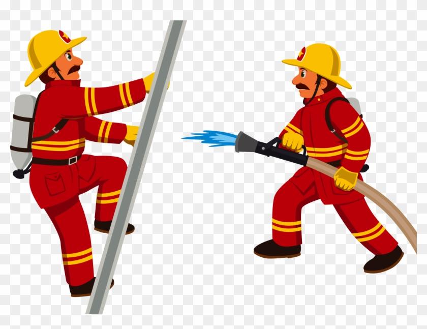 Firefighter Cartoon Fire Department Clip Art - Fireman Clipart #9163