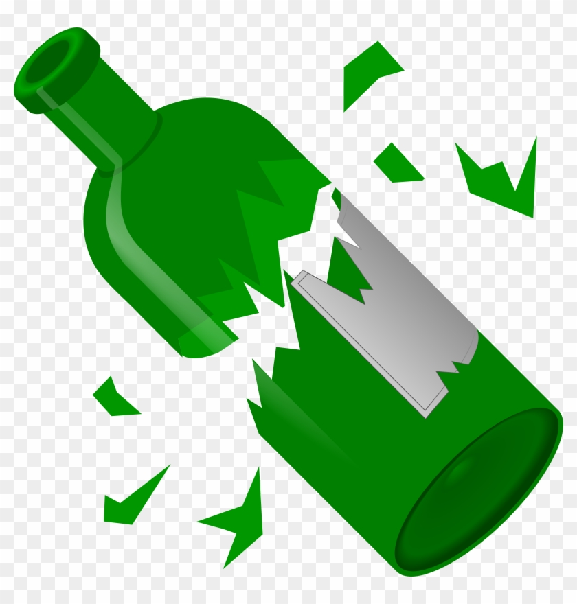 Broken Clip Art Free Clipart Broken Bottle Qubodup - Broken Bottle Clip Art #9161