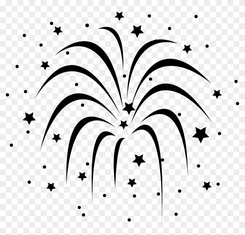Fireworks Clipart Black And White #9183