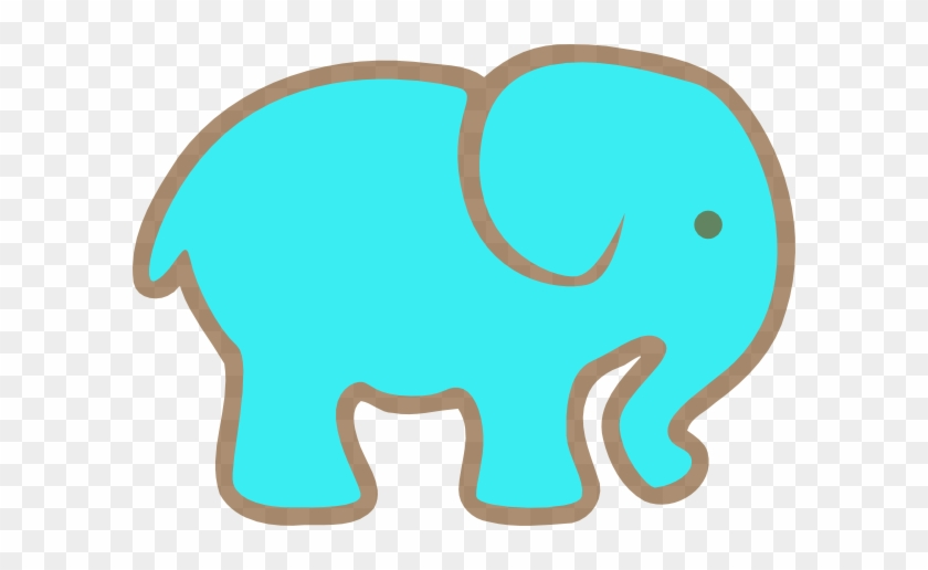 Blue Elephant Clip Art At Clker - Turquoise Elephant Clip Art #9167
