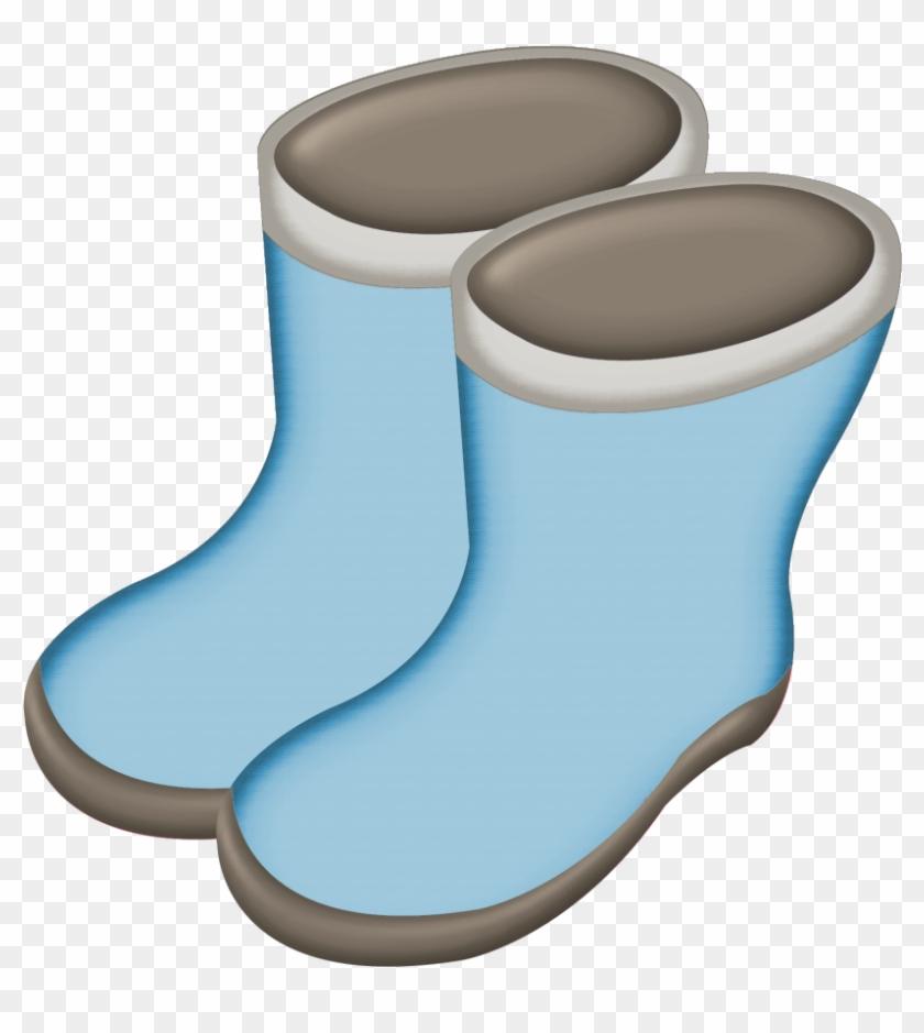 Boots Clip Art - Blue Rain Boots Clipart #9170