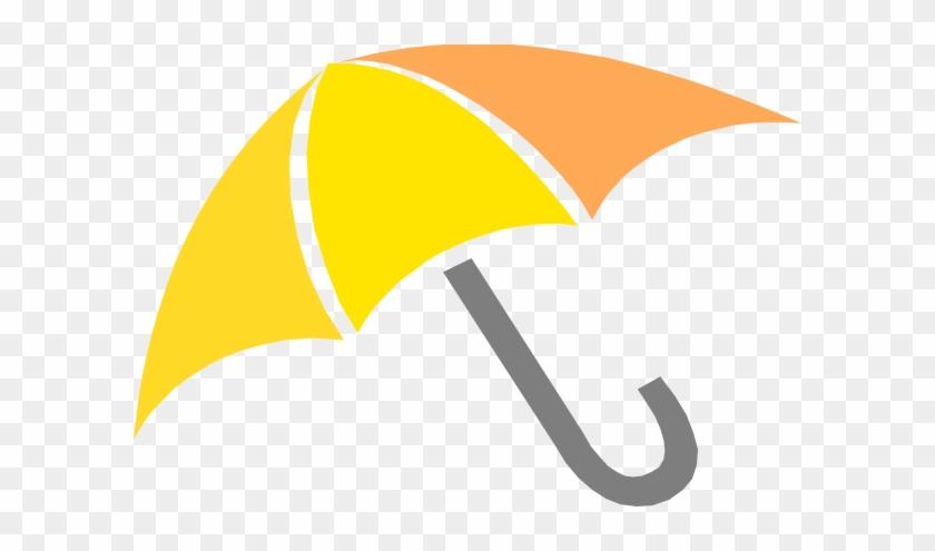 Yellow Umbrella Clip Art At Clker - Pink Umbrella Clip Art #9177