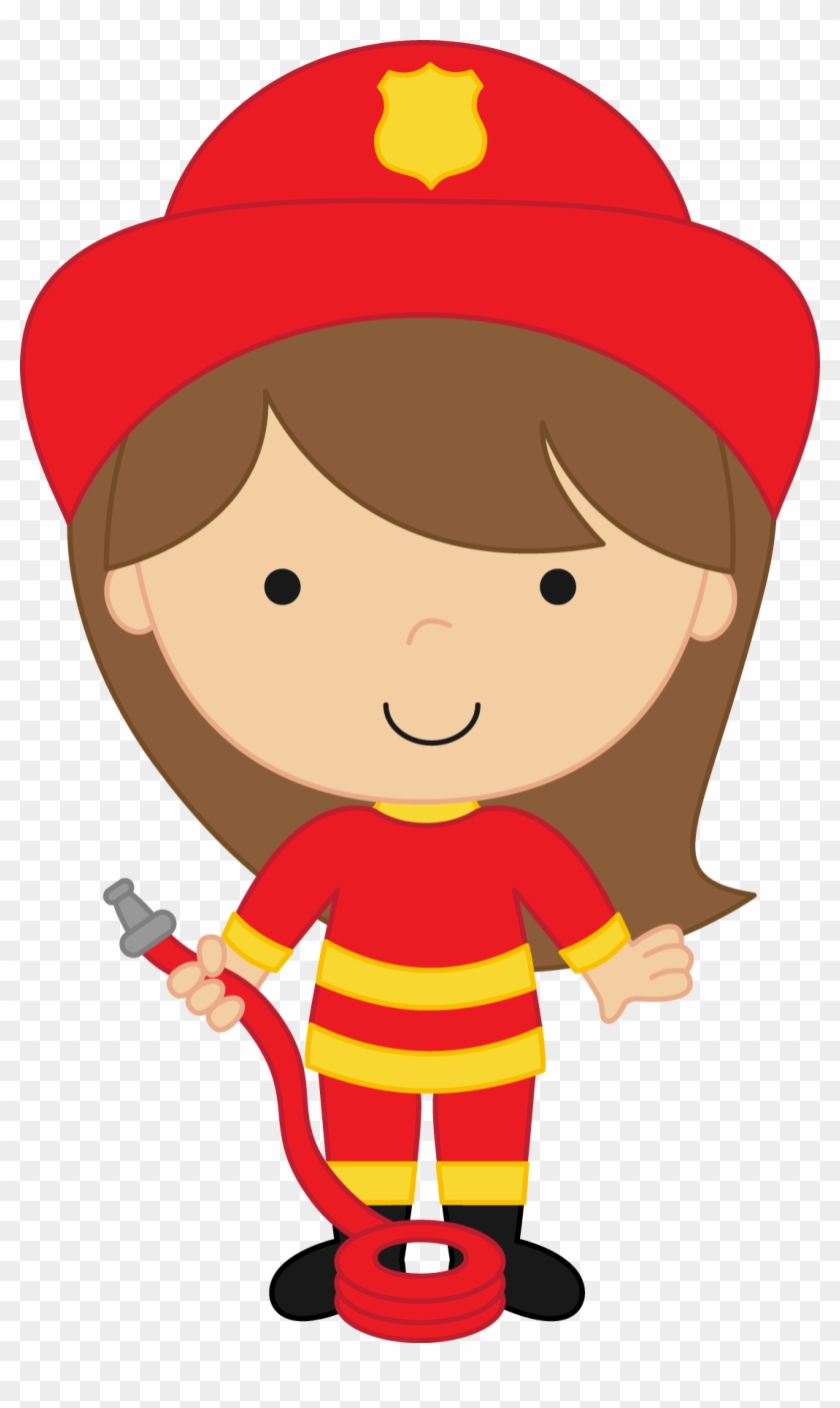 Firefighter, Office Ideas, Clip Art, Party Ideas, Girl - Girl Firefighter Clipart #9187