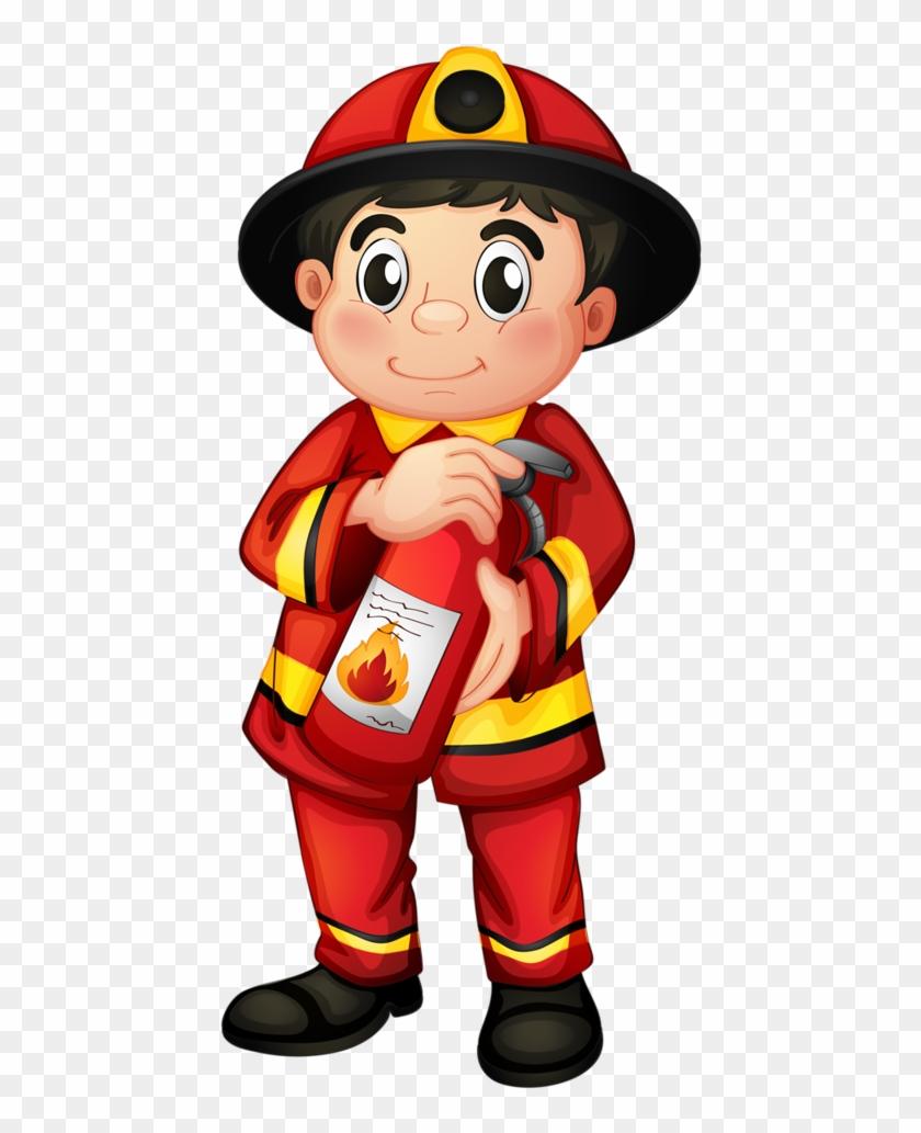 Itfaiyeci - Fireman Clipart Png #9212