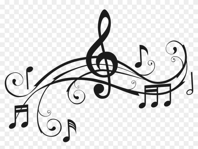 Clipart Pleasant Musical Note Images Printwallart Notes - Black And White Music Clip Art #9218