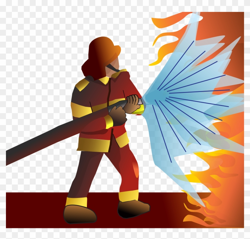 Medium Image - Png Clipart Firefighter #9215