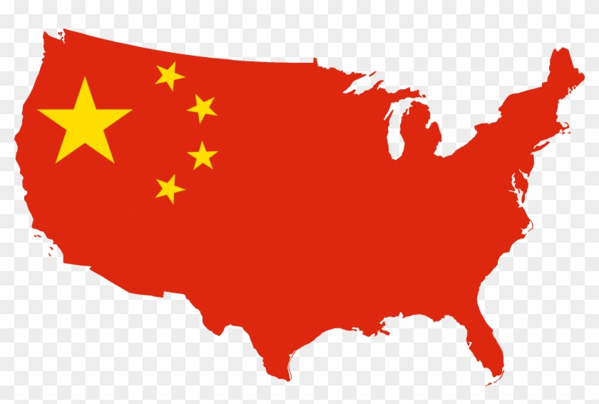 Chinese Clip Art - Usa Map In Black And White #9225