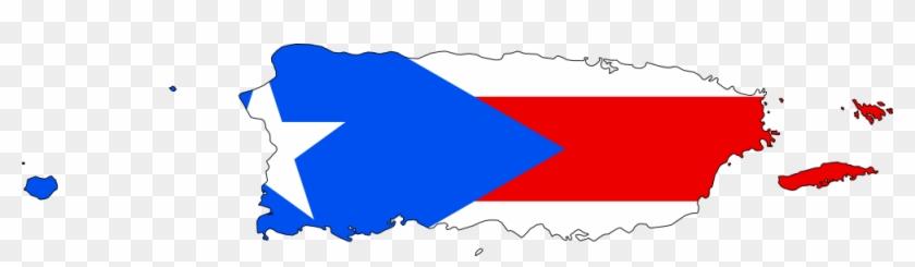 Map Puerto Rico Flag Clipart - Puerto Rico Map Cartoon #9236