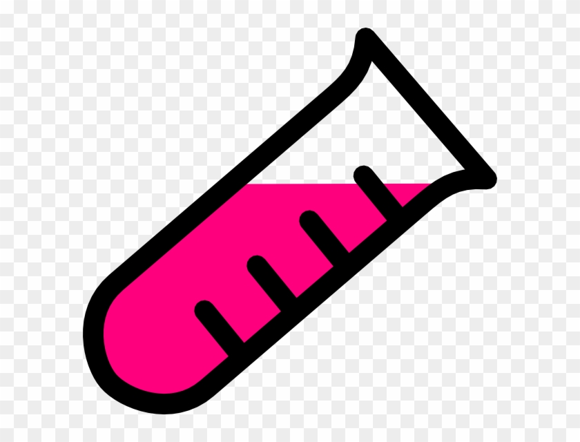 Test Tube Clipart Pink Test Tube Clip Art At Clker - Science Test Tubes Clipart #9240