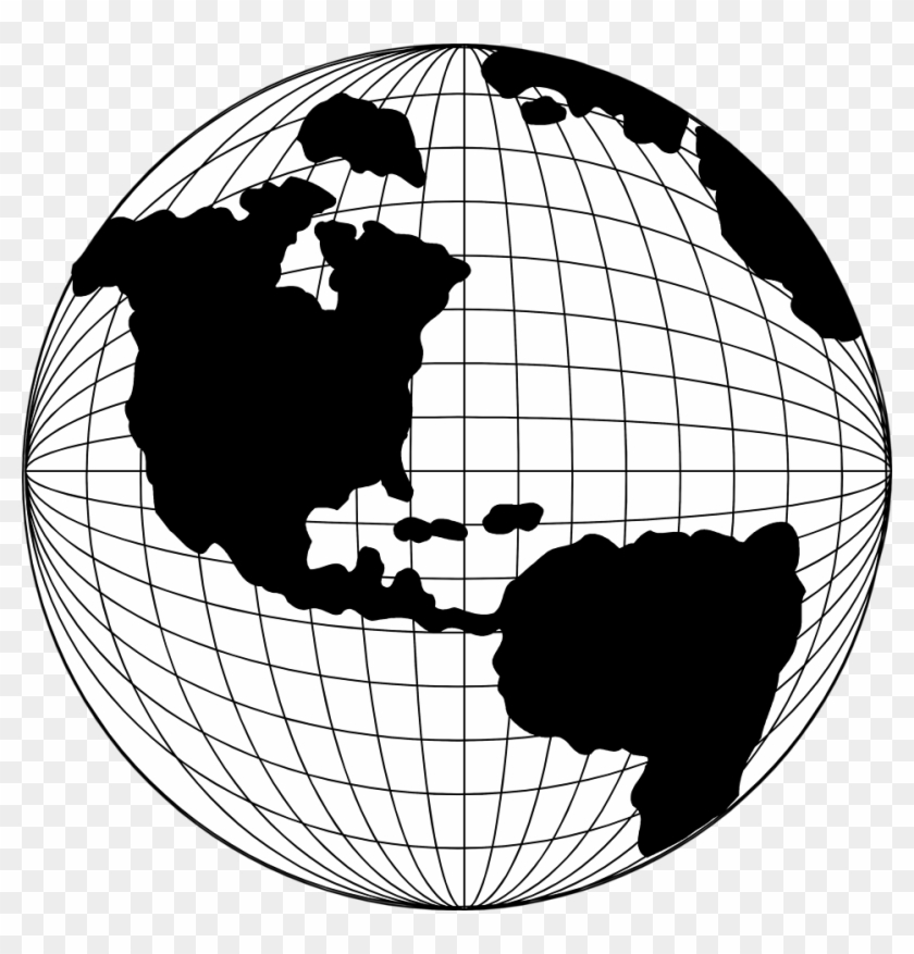 Free Map Vintage Png Clipart - Globe Line Art Png #9246