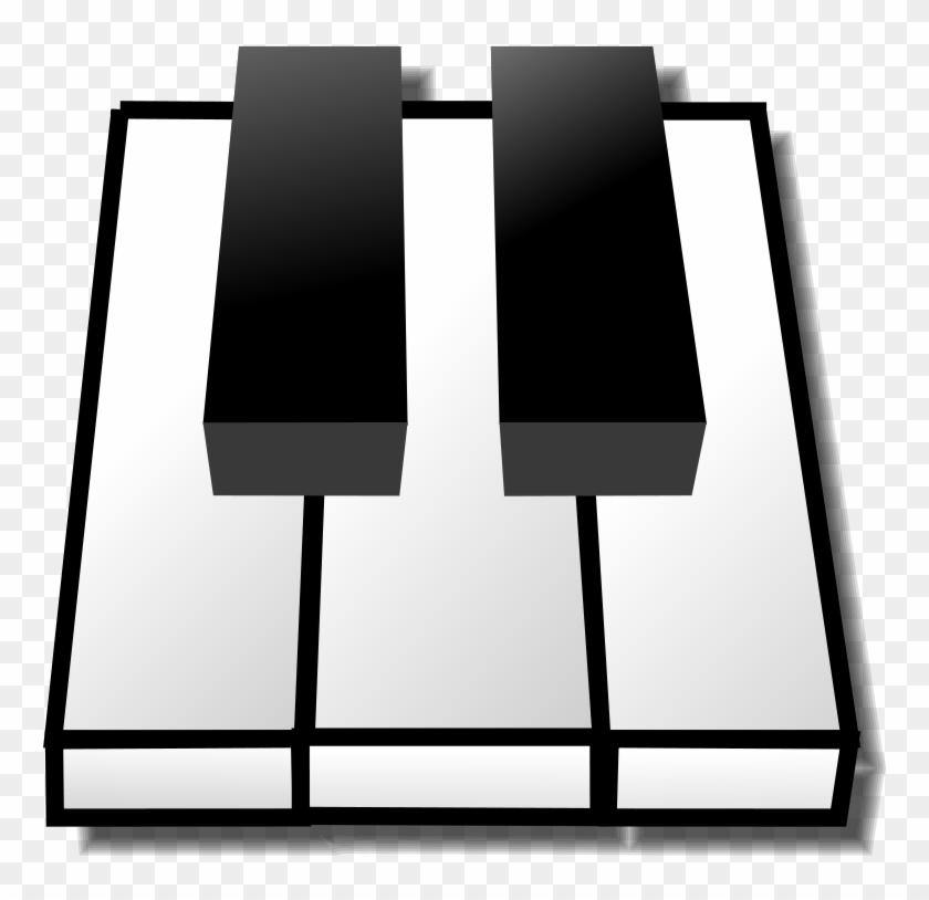 Homely Design Piano Clipart Keys Clip Art Best Panda - 2 Black Keys Piano #9272