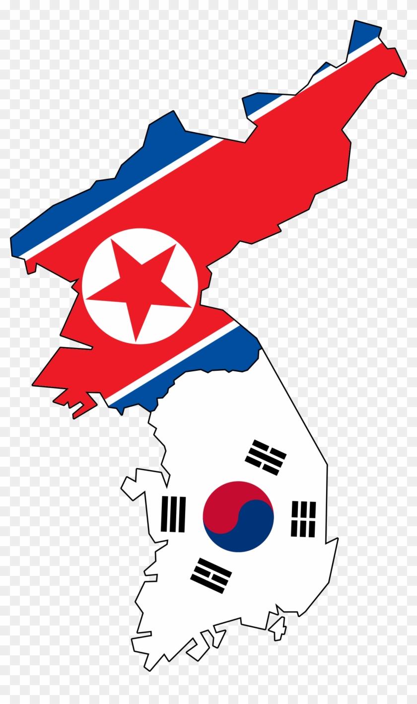 Big Image - North And South Korean Flags #9275