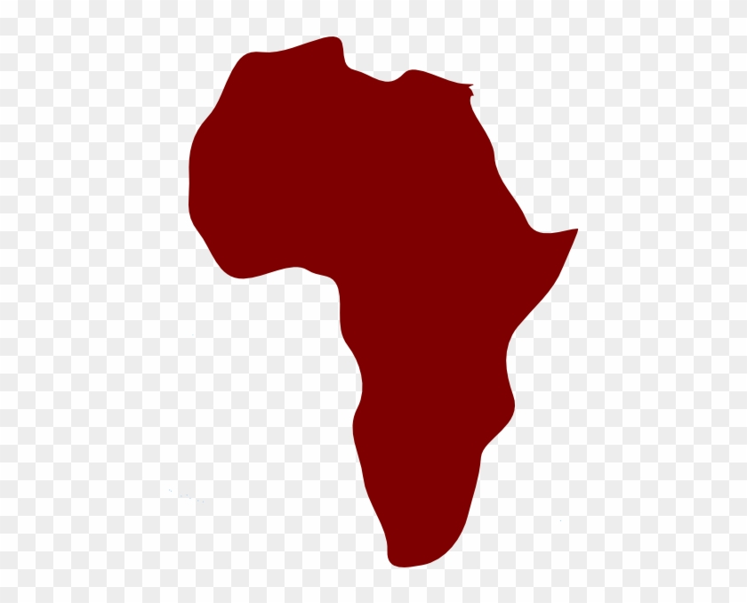 Africa Map Clipart Cliparts And Others Art Inspiration - Red Map Of Africa #9279