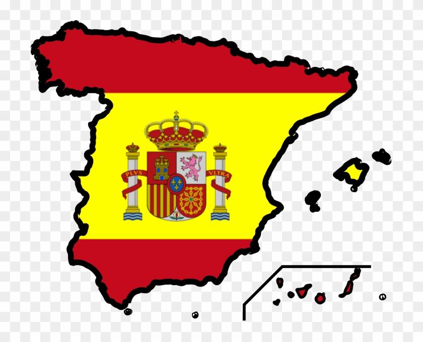 Ridgan6i9 Spain Map Clip Art - Spanish Flag Clip Art #9281