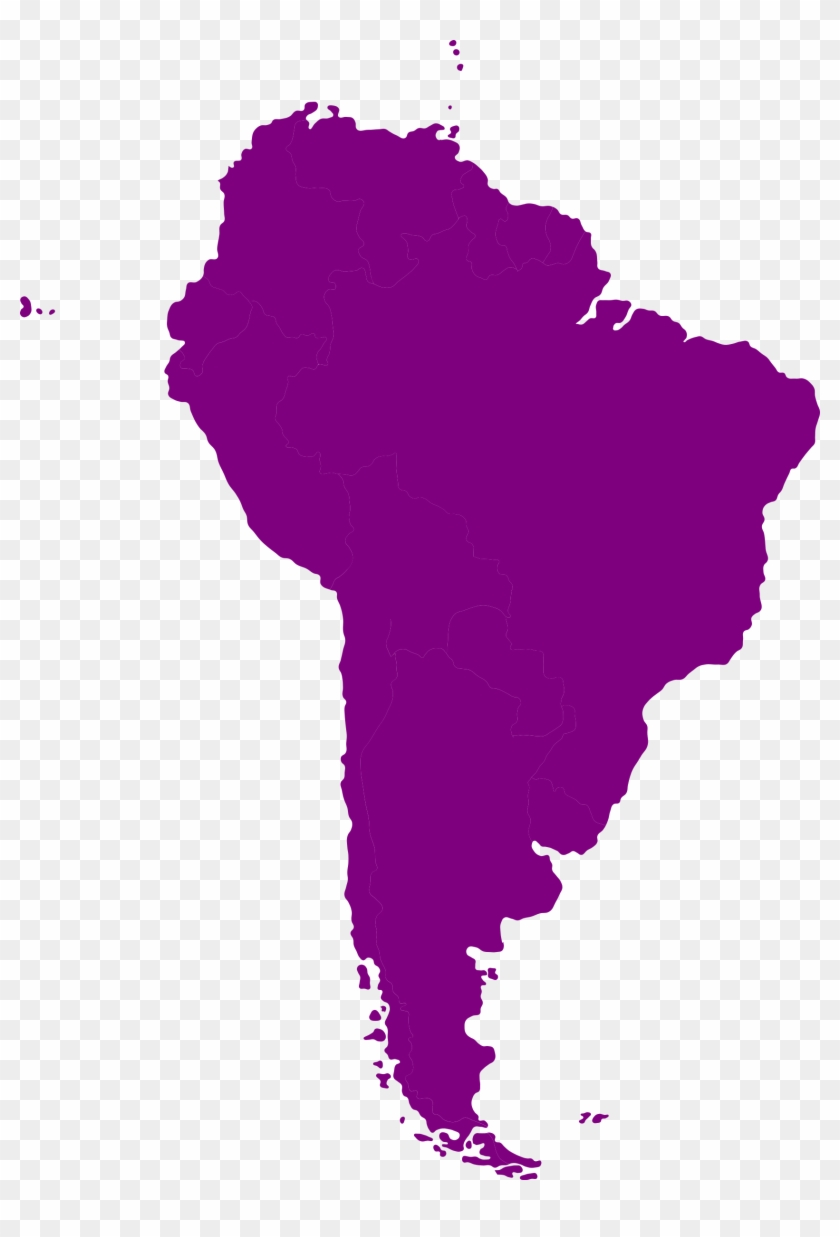 South American Continent By @iyo, Continental Map Of - South America Continent Outline #9285