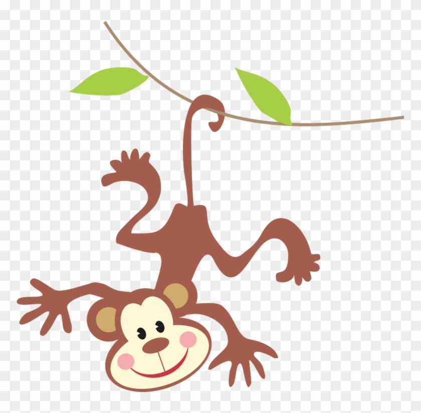 Jungle Babies Clip Art - Free Monkey Clipart #9294