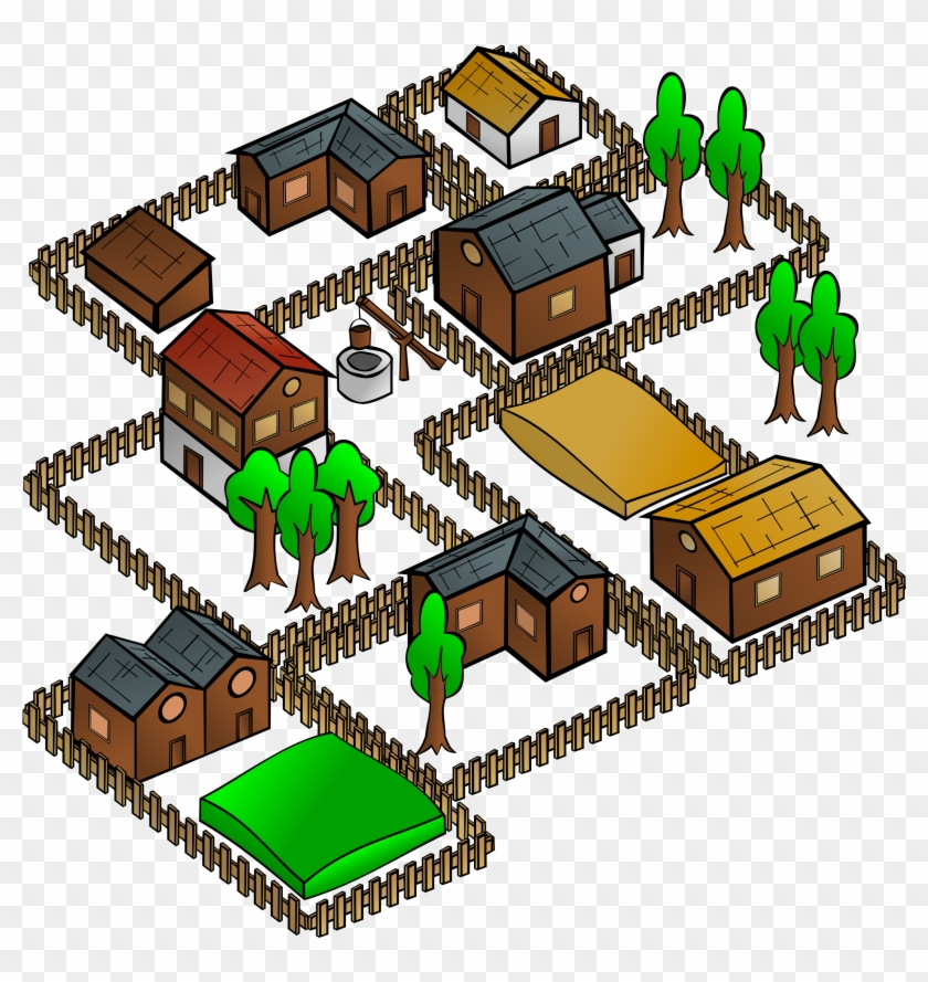 Map Symbols - Village Clipart #9308